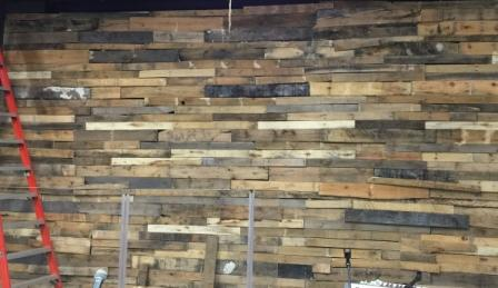Wall Covering 28 Inch Reclaimed Pallet Board