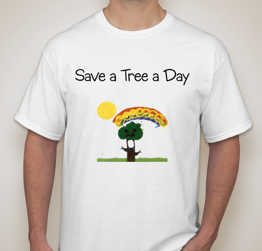 Earth Day T-Shirt Save a Tree a Day by fortworthpallets.com